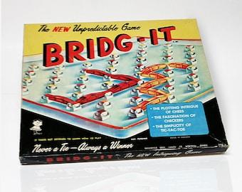 Mid-century 1960 BRIDG-IT Board Game by Hassenfeld