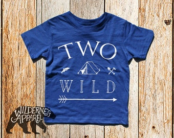 NEW ~ Two Wild ~ Toddler Crew Tee ~ Available In 5 Vintage Colors