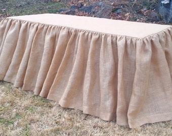 Burlap Gathered Tablecloth