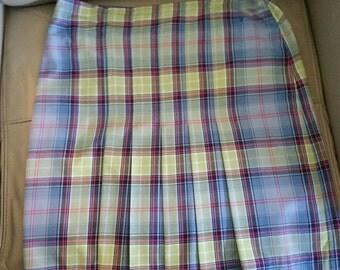 Tommy Hilfiger Pleated Kilt Skirt.