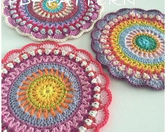 Crochet Mandala  Pattern Mandala  Doily pattern,Crochet Doily,Dorothy Mandala - Instant Download PDF Crochet Pattern Tutorial