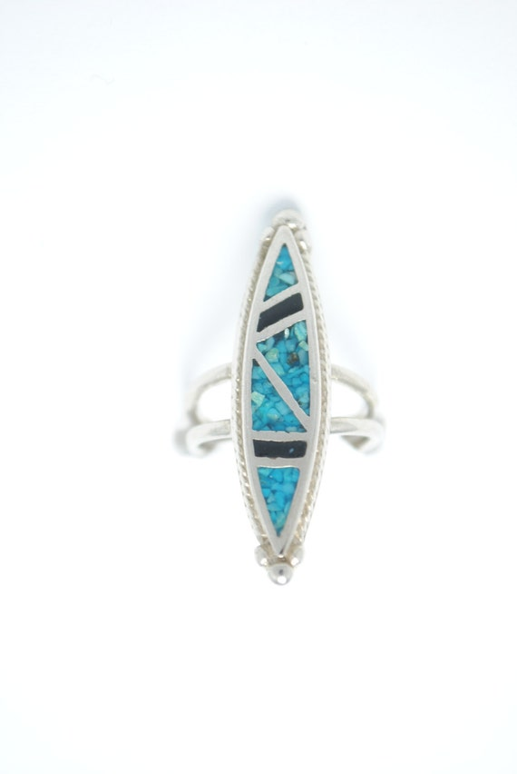 Turquoise ring - vintage ring - Native american ring - Iroquoise