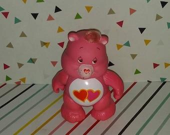 Vintage 1980s Care Bears Love-A-Lot PVC Figure
