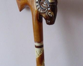 Sheep cane, walking stick, hiking, hand carved