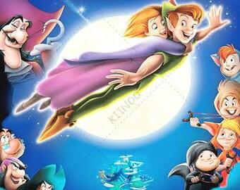 Peter Pan #5 Wall Mural, Neverland Wall Mural, Wallpaper, Wall Décor, Part 68