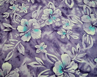 Hibiscus Flower Fabric*Purple and Blue*Trans-Pacific Textiles*TX-99116*Cotton Fabric*Hawaiian Fabric*Island Fabric*Quilting*Sewing