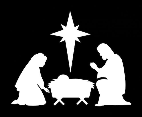 382 nativity scene christmas decoration ornaments silhouette