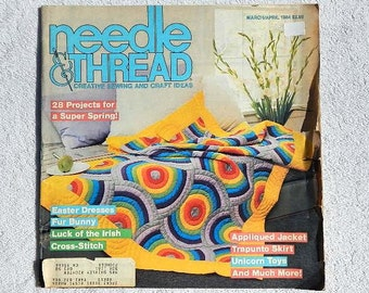 Vintage Needle & Thread Creative Sewing and Craft Ideas Magazine March April 1984