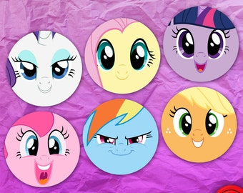 My Little Pony FiM Face Stickers