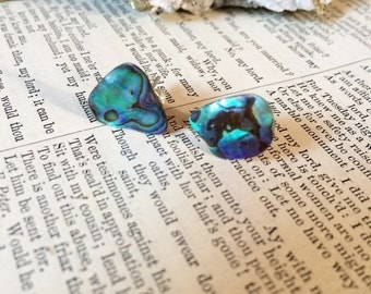 Abalone post earrings: intuition, Water, mermaid style