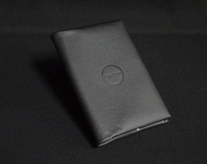 Passport Travel Wallet - Black - Kangaroo leather with RFID Passport and Credit Card chip blocking - Handmade - James Watson