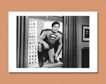 SUPERMAN - Kirk Alyn, 1948 --- Giclée/Photo print