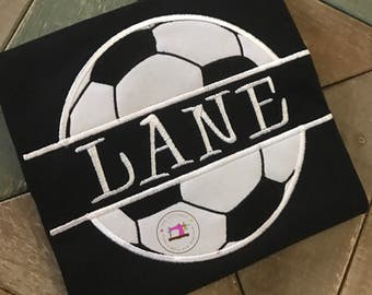 Soccer Ball shirt with Name or Team name