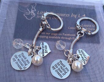 Mother-of-the-Bride and Mother-of-the-Groom Keychain Set