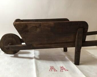 Vintage wheelbarrow, Small wheelbarrow, wheelbarrow old, wheelbarrow, toy wheelbarrow, Push toy, miniature wheelbarrow