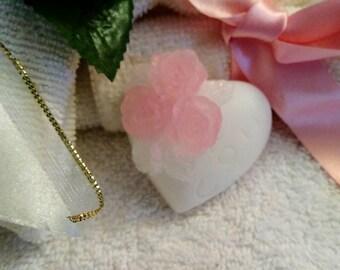 Heart Soap~I Love You Soap~Miniature Heart Soap~Guest Soap~Bridal Shower Favor~Mini Heart Soap