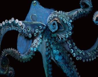Blue Octopus Card
