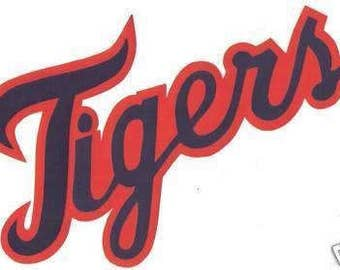 Huge Detroit Tigers Iron On Patch 6 x 10.5