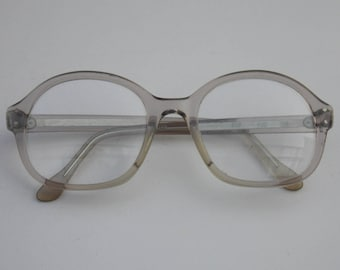 Vintage METZLER Eyewear, gray Frame,Clear lenses, Rare Piece, Made in Germany,retro glasses, office glasses, cool glasses 59