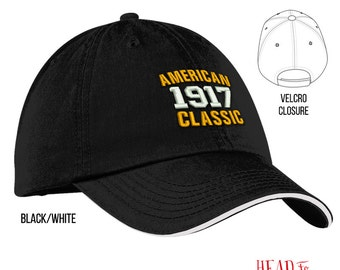 100th Birthday, 1917 Birthday, 100th Birthday Gift, American Classic Embroidered Hat, 100th Birthday Idea, 100 Years Old, 100 Birthday Gift