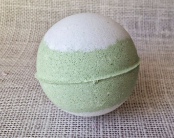Cool Lime Chiller Bath Bomb, Lime Essential and Peppermint Essential Oil, Aromatherapy, Fair Trade Cocoa Butter and Shea Butter, Avocado Oil