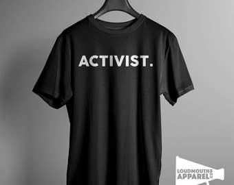 Activist Men's T-Shirt rebel rights movement freedom free speech
