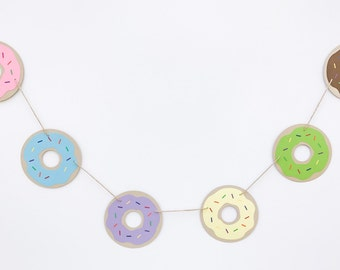 Donut Garland | Donut Garland | Donut Banner | Donut Decoration | Donut Decor | Donut Party | Dunkin Donut Inspired Garland