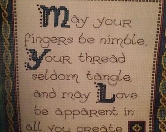 Say A Little Prayer Cushion Cross Stitch Pattern