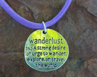 Wanderlust Pendant On 550 Paracord