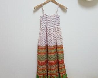 Buy 2 get 1 free,Vintage maxi dress, M Size, Cotton Dress, Day Dress, Bohemian Dress, Hippie Dress, Long Floral dress