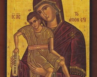 Virgin Mary and Christ Child. Christian orthodox icon.FREE SHIPPING