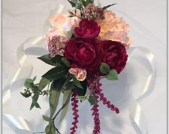 Cascade bouquet, wedding bouquet.