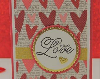 Shadow Box Card, Handmade Cards, Shadow Box Heart Cards, Unique Cards, Luxury Cards, Birthday/Love/Anniversary Cards, Custom Card, Love you