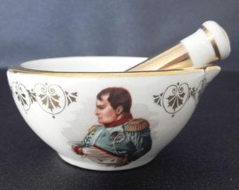 """vintage french porcelain ashtray  """"Napoleon Bonaparte"""""""