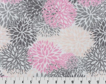 Double Gauze Fabric // Embrace Gauze Fabric in Blooms Coral/Pink