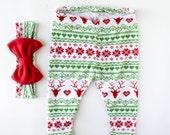 baby christmas leggings - toddler christmas leggings - baby leggings - christmas leggings - toddler leggings - reindeer leggings