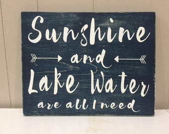sunshine and lake water are all I need
