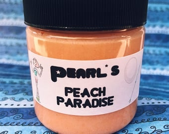 Pearl's Peach Paradise Peaches and Cream Scented Whipped Sugar Scrub