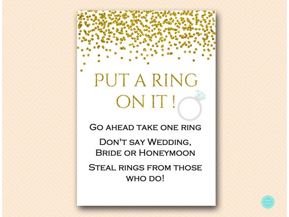 what do you put on a wedding cake table gold glam bridal shower put a ring on it dont say 27052