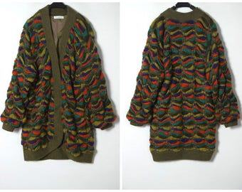 80's vintage wool sweater coat