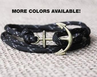 Bracelet men, anchor bracelet, nautical bracelet, paracord bracelet, Rope Bracelet, anchor bracelet men, sailing bracelet, rope bracelet men