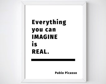Printable, Inspirational Quote, Pablo Picasso, Motivational Poster, Instant Download, Printable Quotes, Digital Download, Minimalist Poster
