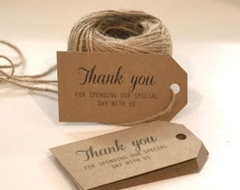 Custom Printed Wedding Favor Tags, Wedding Bomboniere Tags, Swing Tags, Wedding Gift Tags, Personalised Thank You Tags, Wedding Favours