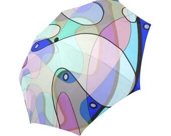 Morning Dew Automatic Foldable Rain Umbrella