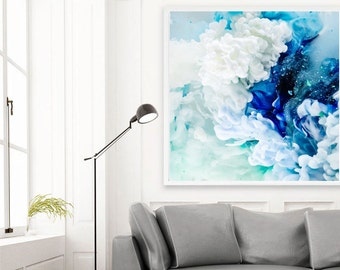 Modern Art, Abstract Photography, Large Art, Abstract Art Print, Giclee Art Print, Unique Art, Contemporary Art, Blue Abstract, Cool