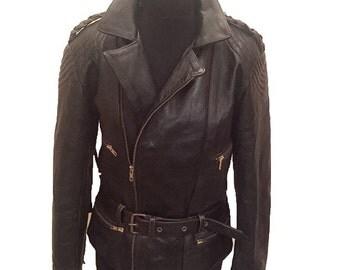 Brando Fringed Leather Jacket 38 Chest