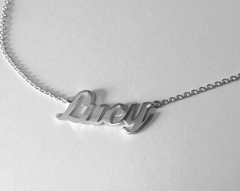 Necklace Written - Text to customize - Letters - Sterling 925