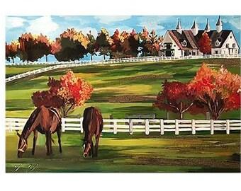 2016 Versailles Horse Farm Print