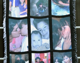 Personalized Photo Blanket with your Own Photos