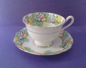 Royal Albert Primrose Teacup and Saucer, Bone China England Teacup Set